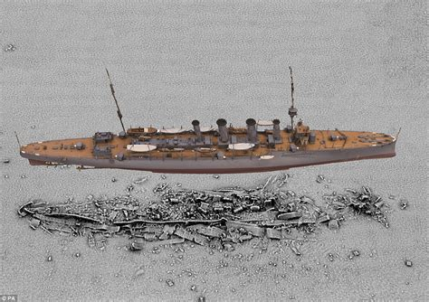 german u boats sunk in ww1 experts digitally recreate hms falmouth 100 years after it