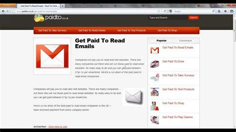 Paid To Read Email - get paid to read emails youtube