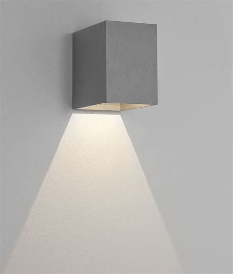 cube wall fixed downlight with led l in 3 finishes