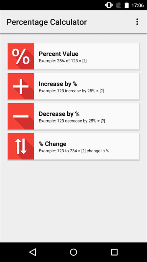 calculator percentage percentage calculator android apps on google play
