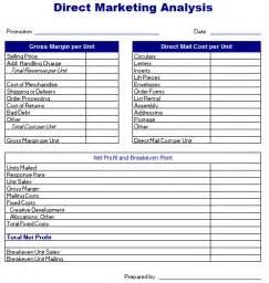 market analysis template direct marketing analysis template free layout format