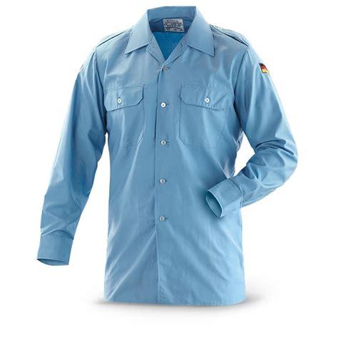 De List Shirt 2 3 used german navy field shirts light blue 282262