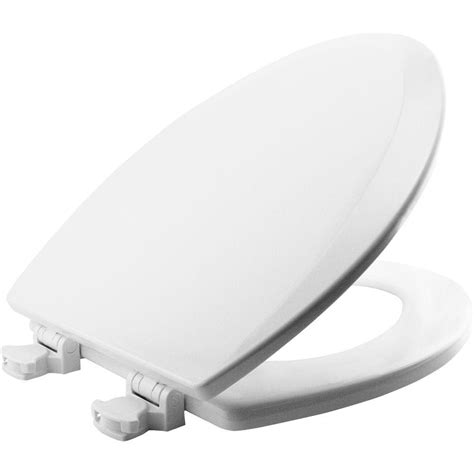 bemis bathroom products bemis lift off elongated closed front toilet seat in white