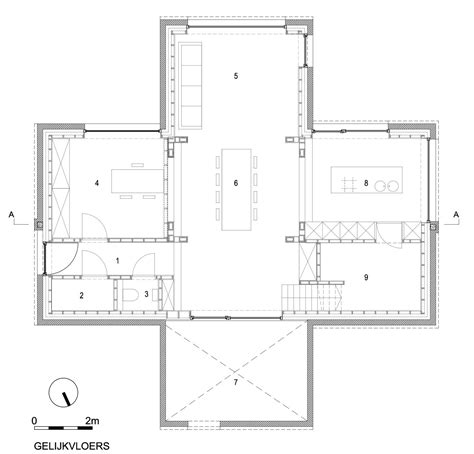 2 Story House Floor Plans Gallery Of Dna House Blaf Architecten 7