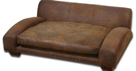 Best Leather Couches For Dogs by Luxe Designer Brown Leather Large Pet Sofa Bed