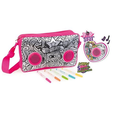 color me mine ta color me mine popstar sac besace sac 224 colorier achat