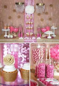 Pink candy buffet and pink and white candy buffet pictures