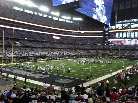 cowboys stadium sections at t stadium section 120 dallas cowboys rateyourseats com
