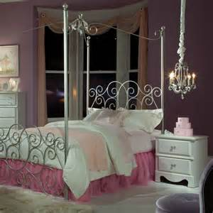 Silver Metal Bedroom Furniture by Standard Furniture Princess 2 Canopy Bedroom