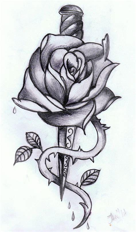 rose dagger tattoo dagger drawing 187 ideas