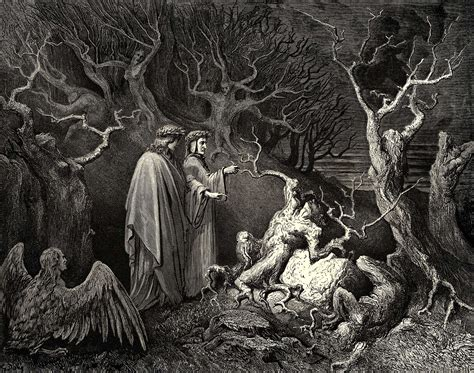 Dore S Illustrations For Dante S Comedy the inferno canto 13 gustave dore wikiart org