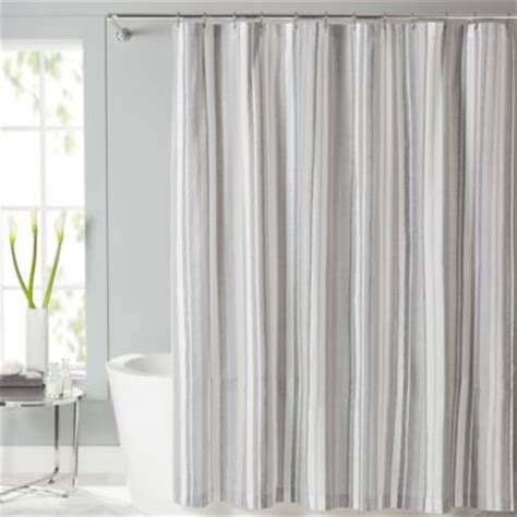 fabric shower curtain with window lancaster fabric shower curtain bedbathandbeyond com