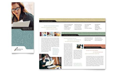 accounting flyer templates bookkeeping accounting services tri fold brochure template word publisher