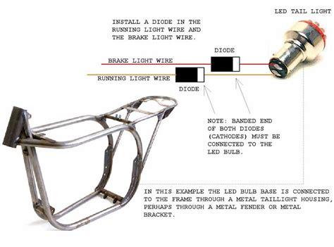 motor dual diode diagram led motorcycle light wiring