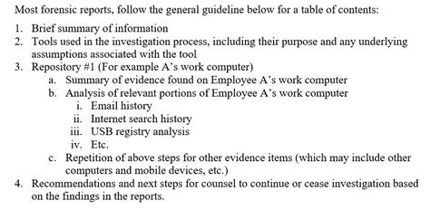 digital forensics report template understanding a digital forensics report
