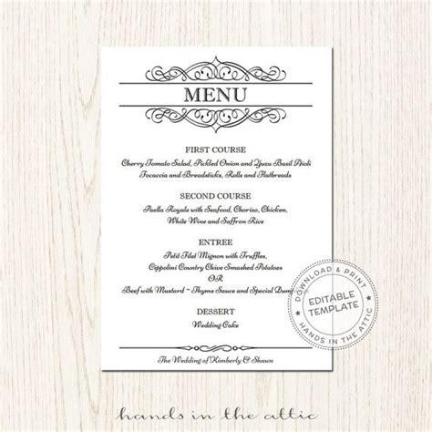 68 best wedding menu cards images on pinterest bridal