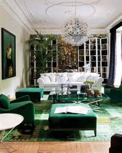 Green Room Design Emerald Green Living Room Via Pinterest