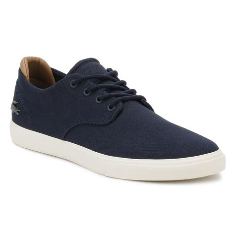 Lacoste Casual Navy lacoste mens espere 217 1 trainers navy blue or white