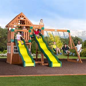 Backyard Discovery Playhouse Costco Backyard Discovery Journey Cedar Swing Set Free Delivery