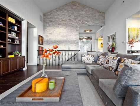 stone wall in living room kirkland custom living room with stone accent wall