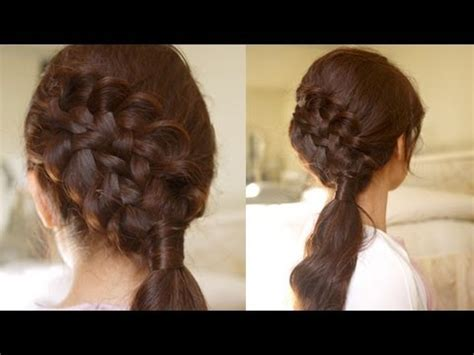 hair tutorial: double braided sidedo for medium to long