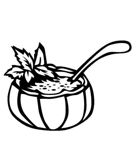 pumpkin soup coloring pages free coloring pages of soup bowl