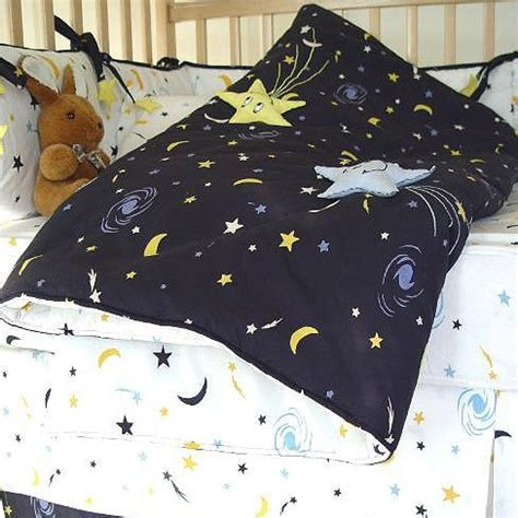 moon and stars bedding set starry night navy white and yellow moon and star 7 piece