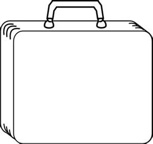 plain white suitcase clip art at clker.com vector clip