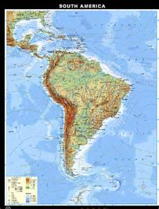 Latin America Physical Features Map by Physical Map Latin America