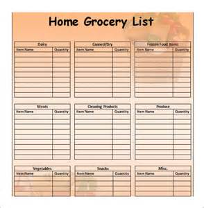 Grocery Template by Doc 431560 Printable Grocery Lists Template Free