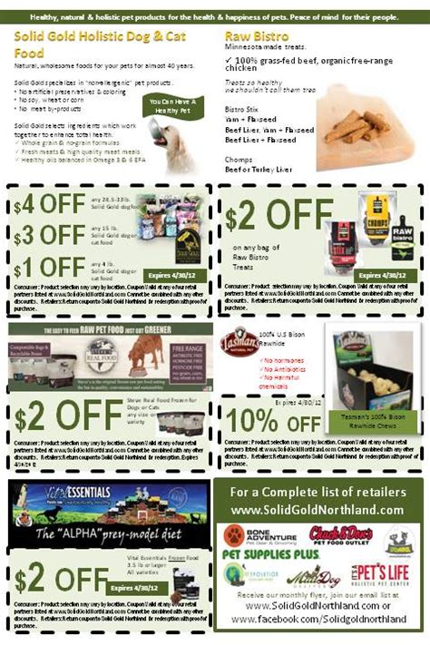 Free Templates For Flyers With Coupons | april coupon flyer northland natural pet