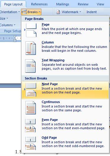 cara membuat nomor halaman 2 kolom cara membuat nomor halaman dengan format yang berbeda
