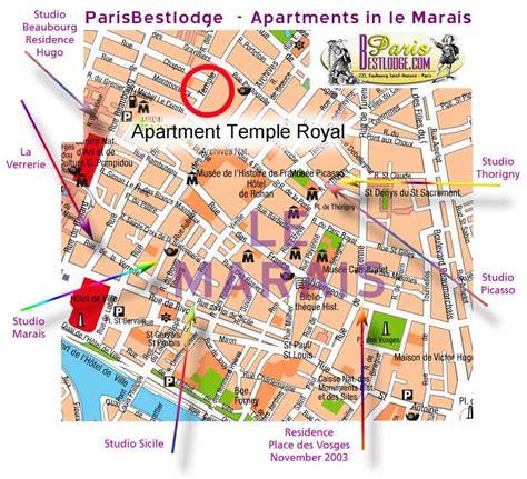 marais map apartment temple royal map of le marais