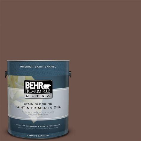 behr premium plus ultra 1 gal n150 6 coffee beans satin enamel interior paint 775301 the