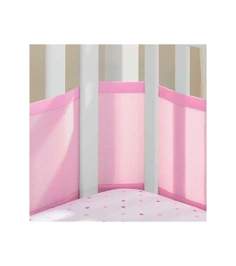 breathable baby mesh crib liner breathable baby mesh crib liner pink mist
