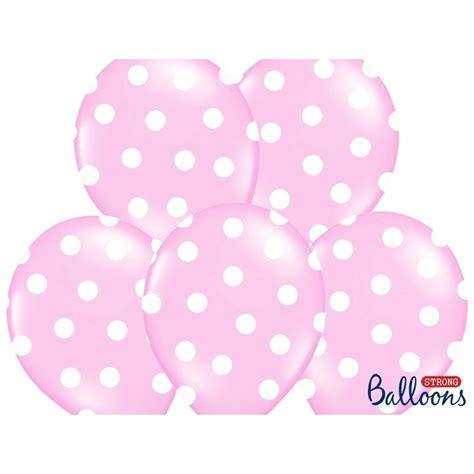Balon Pink balon lateksowy 30 cm kropki pastel baby pink