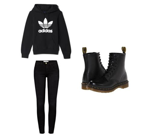 adidas black clothes fashion glam