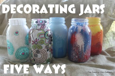 decorate a jar for decorate jars five ways mod podge rocks
