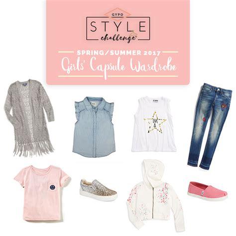 summer capsule wardrobe spring summer 2017 girls capsule wardrobe style challenges