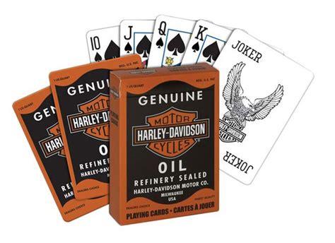 Harley Davidson Gift Card Locations - harley davidson genuine oil playing poker cards birthday gift ebay