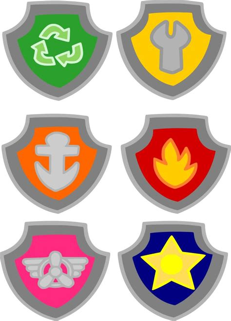 Shield Clipart Paw Patrol Pencil And In Color Shield Clipart Paw Patrol Paw Patrol Shield Template
