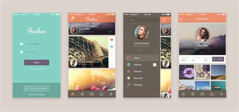 Mobile Themes Psd Free Download | full mobile app screens free psd set download download psd