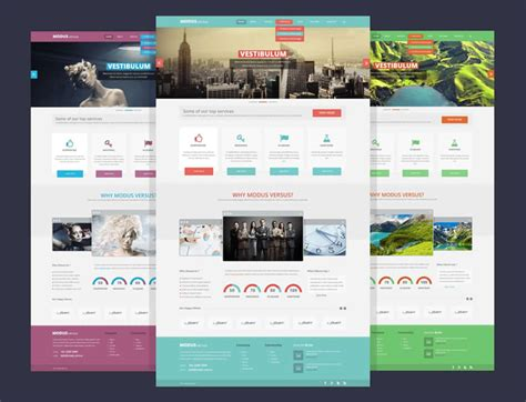 flex layout pinterest modus versus multi purpose psd free layout template web