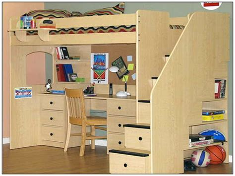 Bunk Bed With Desk Underneath by Bedroom Loft Bed With Desk Underneath Plans Desk Bed