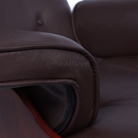 cherry brown leather eames style lounge chair and ottoman brown leather cherry