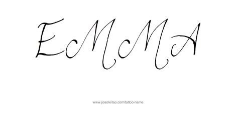 emma tattoo lettering pictures to pin on