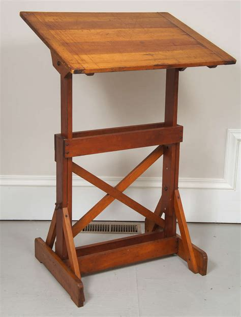 Wooden Drafting Tables 1940 S Industrial Wood Drafting Table At 1stdibs