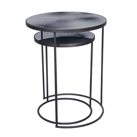 Side Coffee Table Set Buy Notre Monde Nesting Side Table Set Charcoal Amara