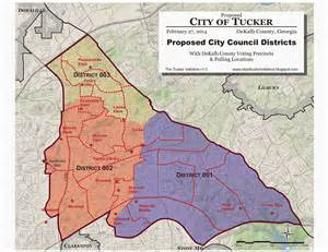 tucker map the city of tucker initiative the proposed new city of