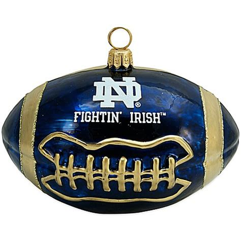 buy university of notre dame football christmas ornament